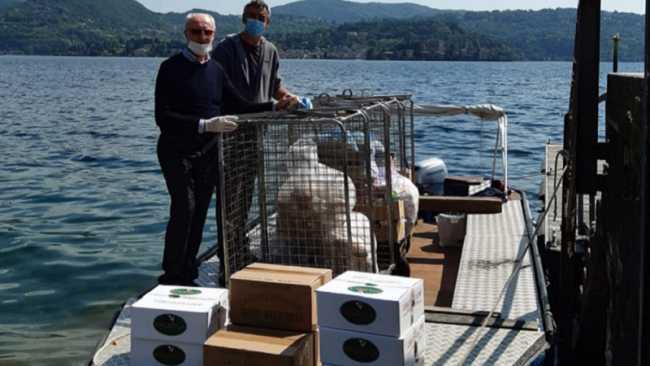 consegna allisola via barca