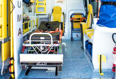 interno ambulanza barela