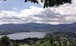 lago orta vista