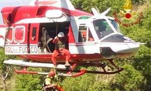 vigili fuoco elicottero verricello